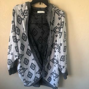 Abercrombie & Fitch Hooded Cardigan Sz XS/S
